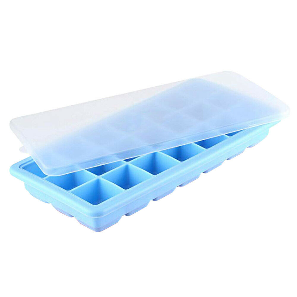 Silicone Ice Cube Tray with 21 Cubes Storing Freezing Baby Food Ice Mould BT