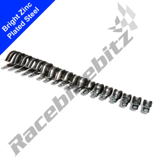 W1 EPDM Caoutchouc Doublé Zinc Plaqué P Clips Colliers De Serrage Câble Câblage Metal pipe