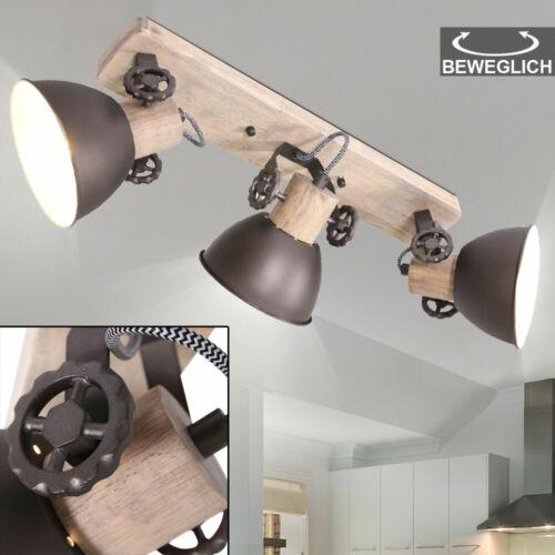RGB LED Vintage Holz Leuchte Decken Strahler dimmbar Fernbedienung Spot Lampe