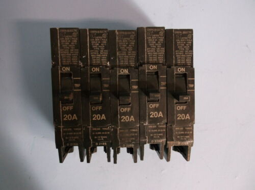 GE CIRCUIT BREAKER 1 POLE ISSUE M-1068 LOT OF 5