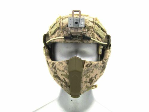 1//6 Scale Toy Heavy Breacher AOR-1 Camo Helmet w//Face Shield