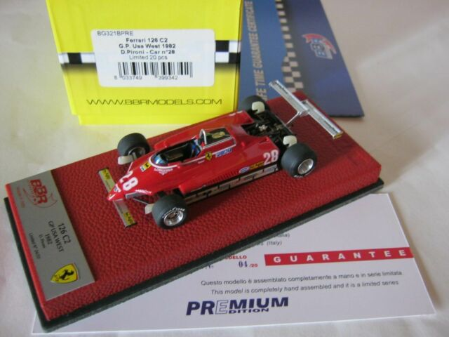 F1 BBR 1/43 FERRARI 126C2 GP USA WEST 1982 BG321B PRE DIDIER PIRONI