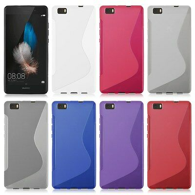 SLIM S Line Wave Gel TPU SOFT Silicone Case Cover For HuaWei Ascend P8 Lite