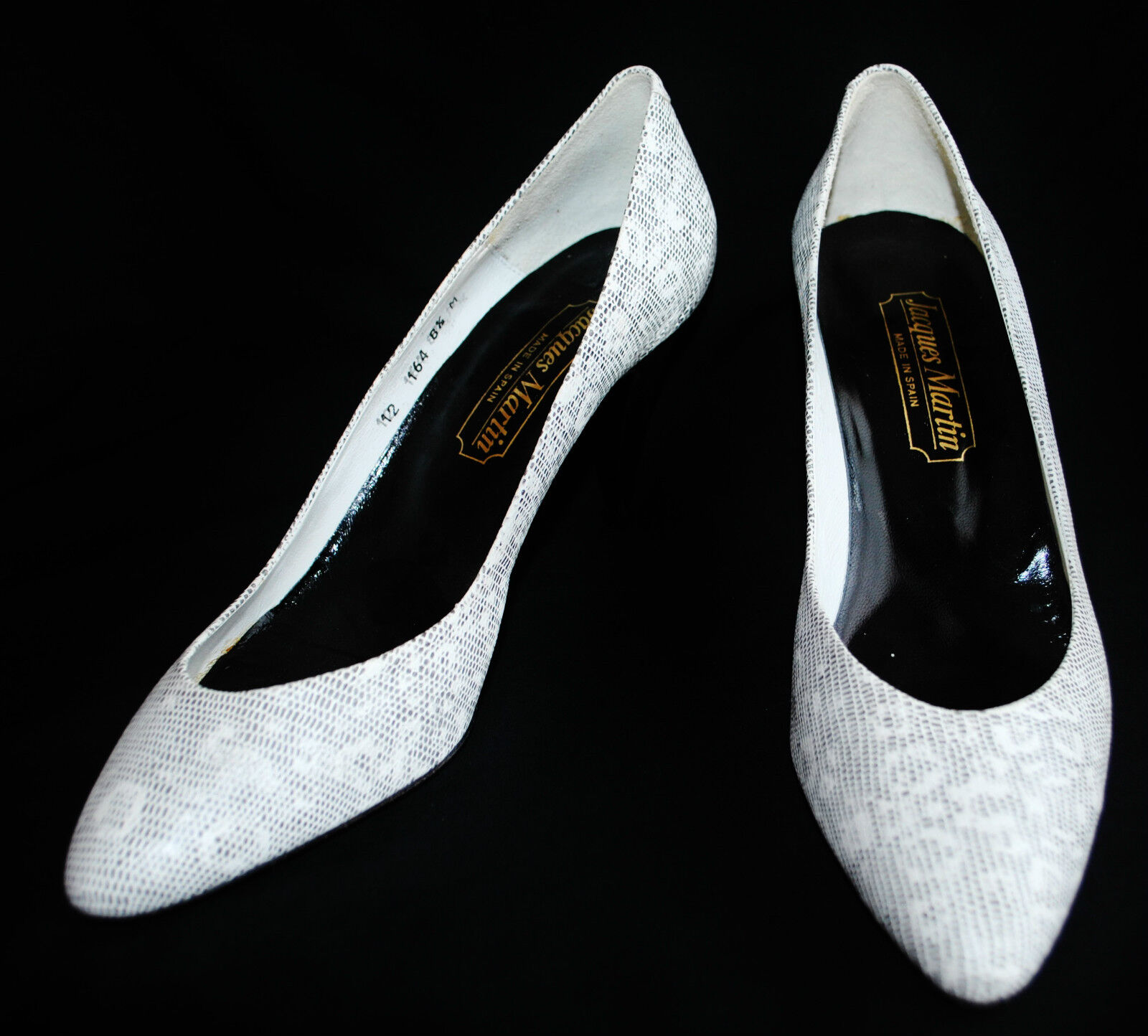 Designer Jacques Martin Spain Leather Snake Print Classic Pump Heel Pump Classic Shoe 8.5 6cef2f