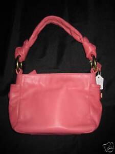 NWT-Coach-Pink-Resort-Leather-Top-Handle-Handbag-42167