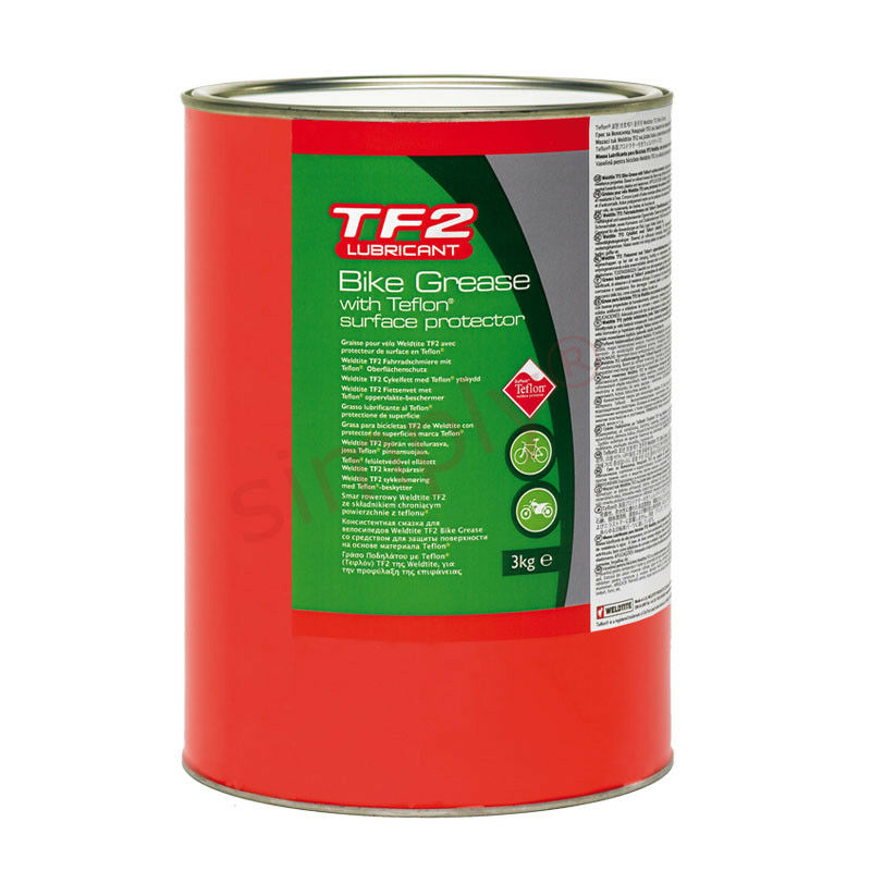 3kg Weldtite TF2 Red Bike Grease with Teflon Surface Predector