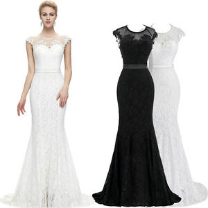 2016 SEXY Weiß Abendkleid Ballkleid Damen Kleid ...
