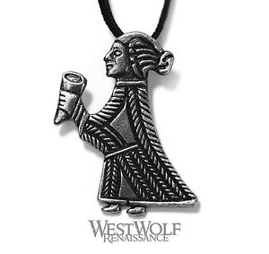 Viking valkyrie pendant norsemedievalnecklacesilverpewter image is loading viking valkyrie pendant norse medieval necklace silver pewter aloadofball Images
