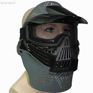 Vollschutzmaske-Schutzmaske-Gesichts-Schutzmaske-Paintball-Gotcha-grau-schwarz