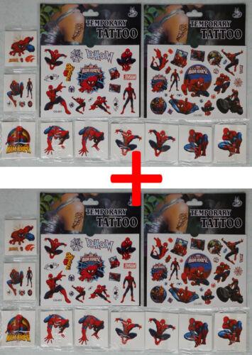 über 100x Spiderman Tattoo für Kinder Mitgebsel Kindergeburtstag Spiderman
