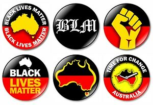 1 x Aboriginal Flag Australia 32mm BUTTON PIN BADGE Indigenous People Protest