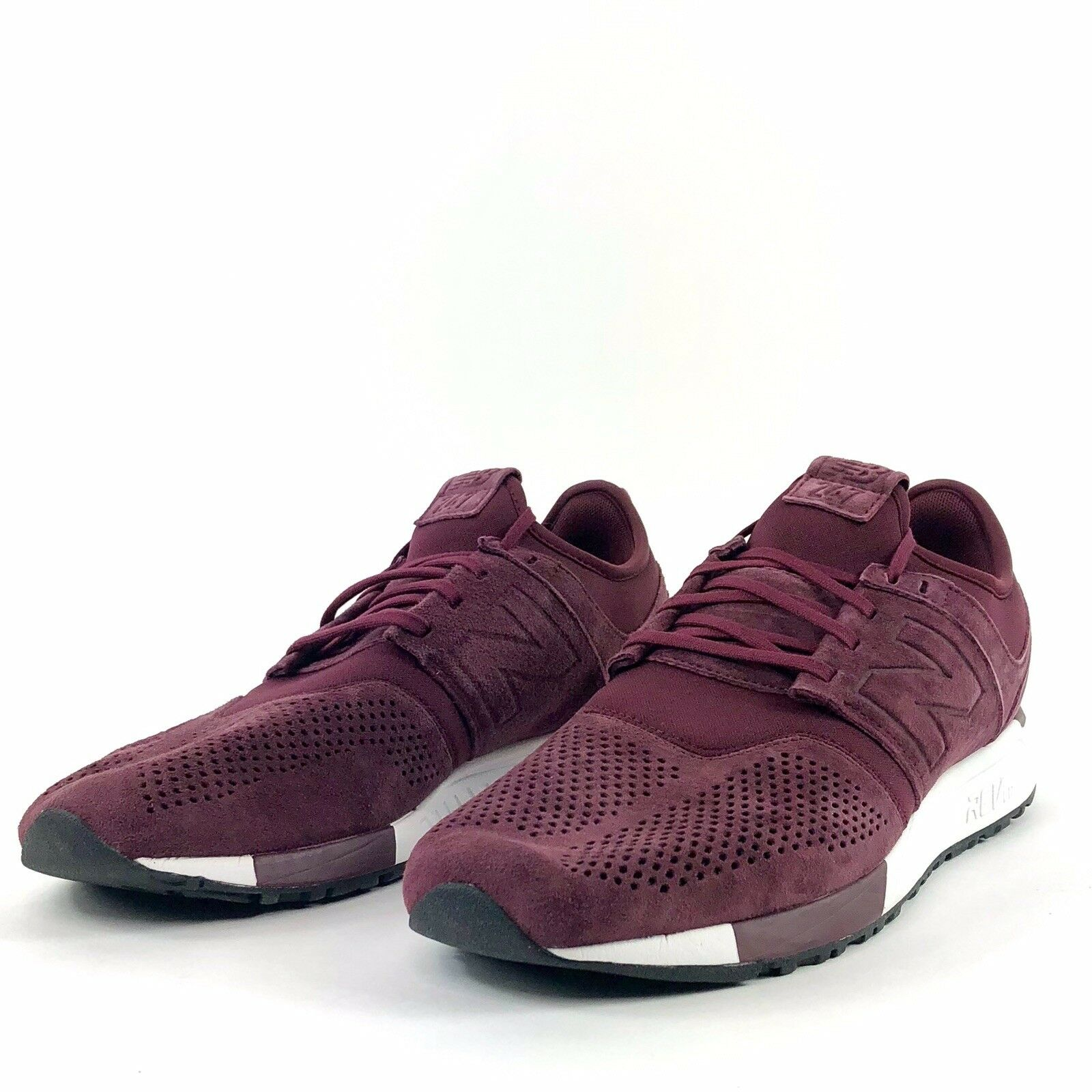 ec873c01b5 New Balance 247 MRL247LR Red White Suede Men Size 11.5 Maroon ...