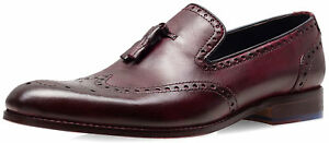 Uk 8 Smith Dip Bordo Boxed Mocassino di Mignolo Dyed Goodwin Scarpe uomo da vwASRx