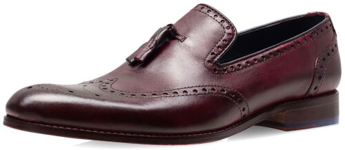 da Smith Goodwin Bordo Mocassino di 8 Uk Scarpe Boxed Mignolo Dyed uomo Dip Xxzaq