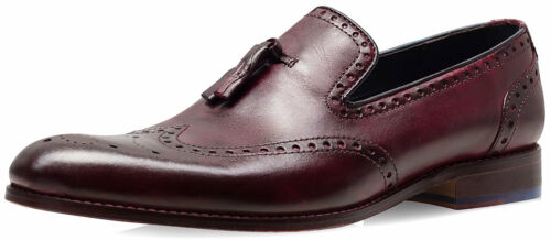 uomo Mignolo Boxed Bordo Smith di Dyed Scarpe Uk Mocassino 8 Dip da Goodwin wZfxYUqY
