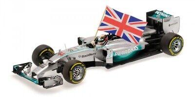Mercedes Amg W05 Hamilton Winner Abu Dhabi Gp W/ Flag World Champion 2014 1:18 Alta Sicurezza