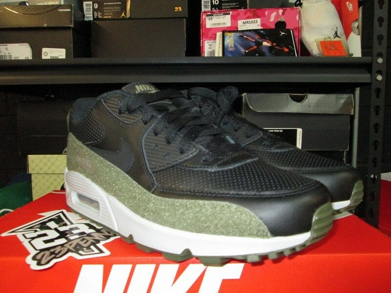 SALE NIKE AIR MAX 90 HAL PATCHES AH9974 002 BLACK MEDIUM OLIVE SZ 8-13 NEW