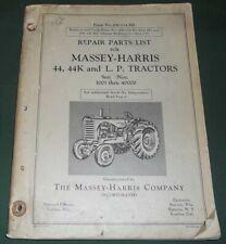 Massey Harris Ferguson 44 44k Lp Tractor Repair Parts Manual Book Original