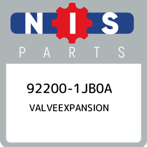 92200-1JB0A-Nissan-Valveexpansion-922001JB0A-New-Genuine-OEM-Part