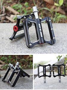 1 Paar ALU Aluminium Fahrradpedal Pedale MTB Fahrrad eloxiert schwarz