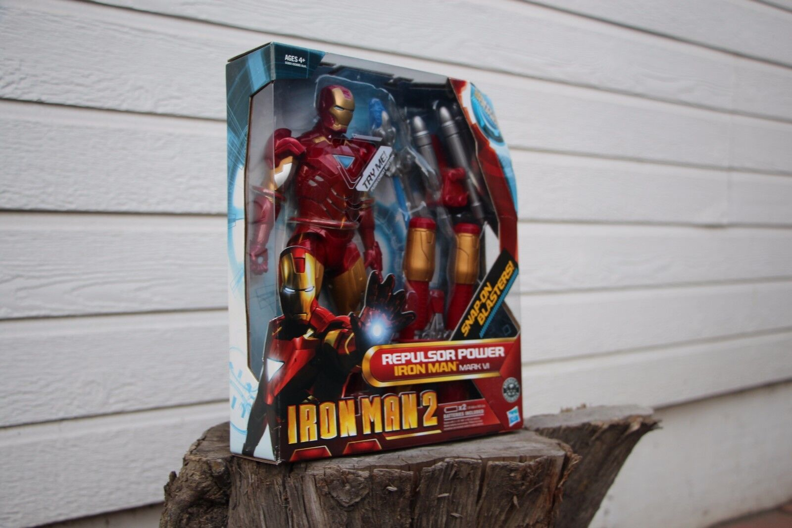 Hasbro  iron man 2  repulsor macht iron man mark vi, 10  - figur, 2010