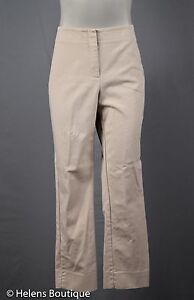Chico-s-womans-pants-size-Chico-s-1-tan-cream-stripes-pockets-zip-front-crop