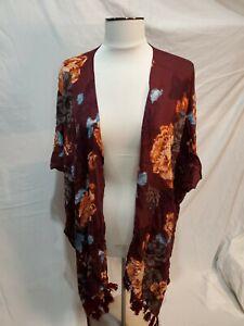 Saachi-Rose-Wine-Purple-Womens-One-Size-Scarf-Shawl-Wrap-Cape-Cardigan-AR
