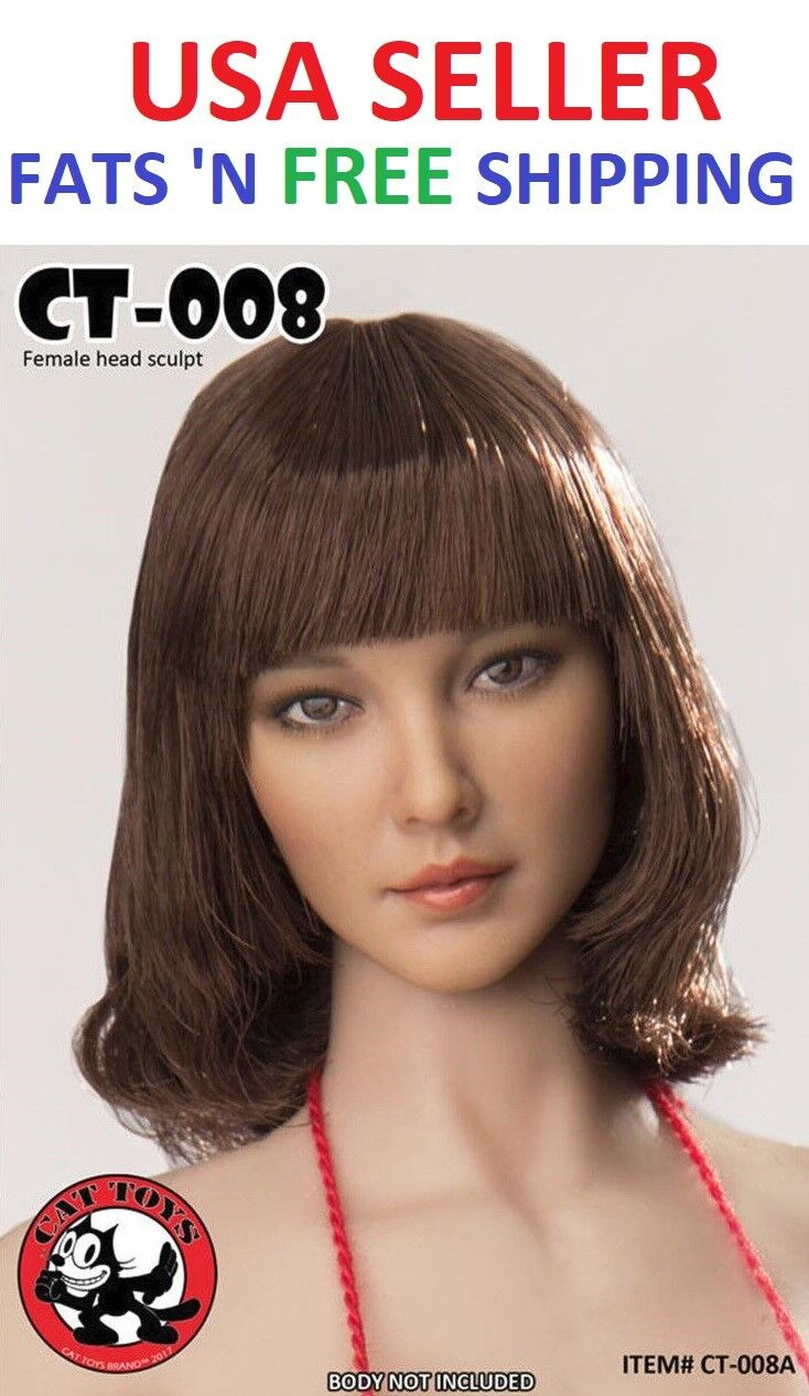 CAT TOYS CT008 A 1 6 Female Head sculpt for 12'' Female Figure Doll Phicen