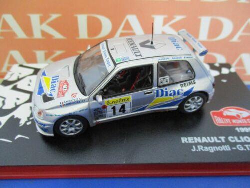 Die cast 1//43 Modellino Auto Renault Clio Maxi Rally Monte Carlo 1995 J.Ragnotti