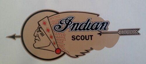 "/""INDIAN MOTORCYCLE/"" 30cm Vinyl Decal Sticker FUEL TANK SCOUT CHIEF bsa ariel R"