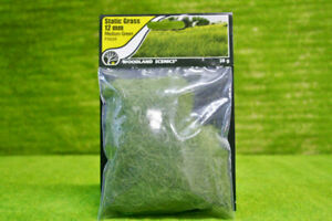 Details about Field System 12mm Static Grass Medium Green Woodland Scenics  WFS626