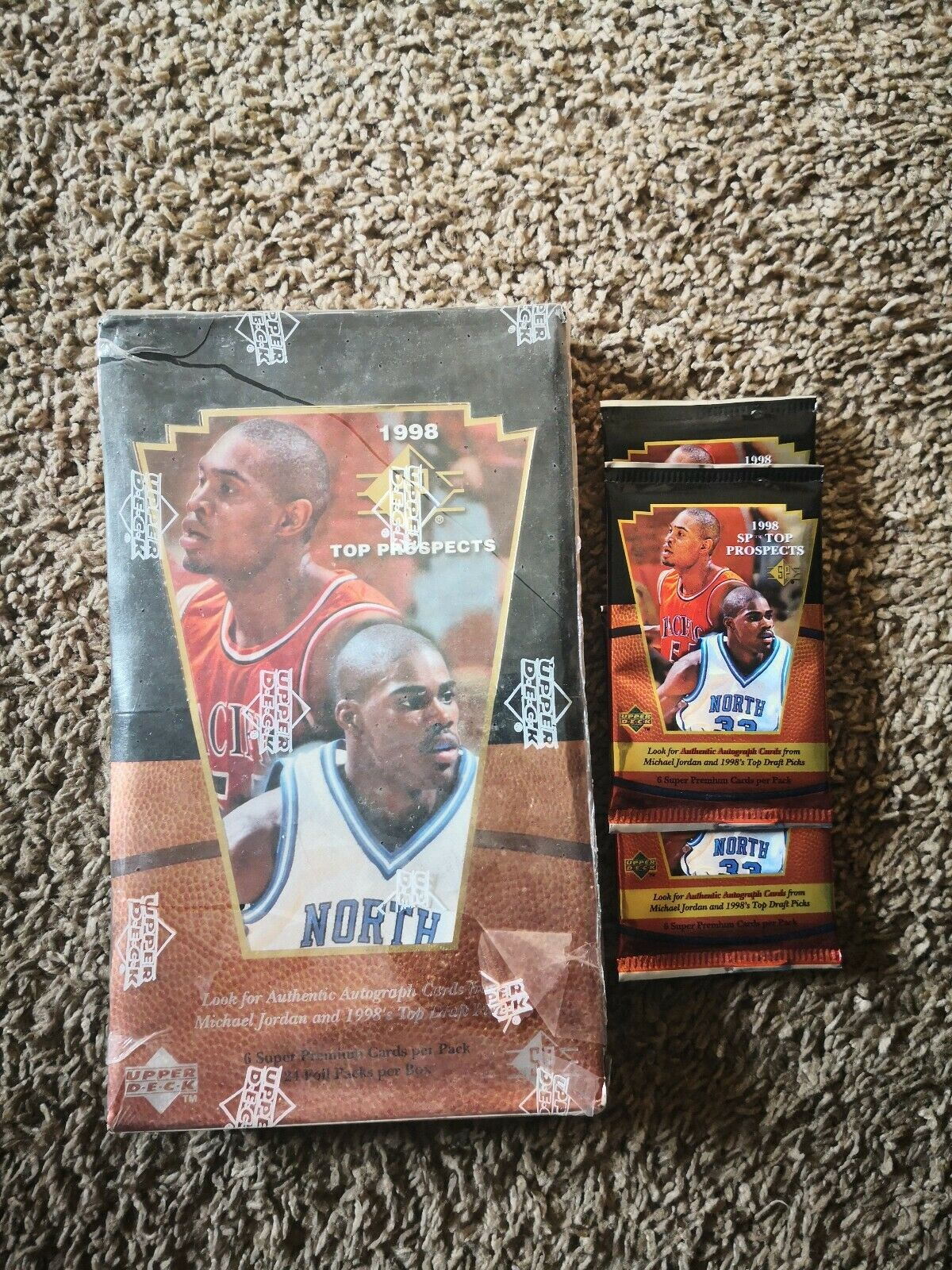 1998 SP Top Prospects (Upper Deck) Basketball box BONUS