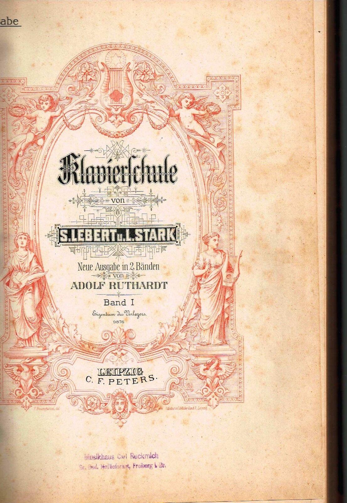 Notenbuch Kriegsausgabe Klavierschule Leipzig Peters Lebert Stark