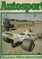 Autosport Sept 11th 1980 *Gilles Villeneuve interview*