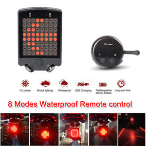 Remote Control Turn Signal Wireless Bike Bicycle Laser LED Tail Lamp