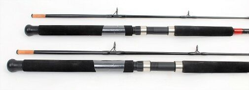 2 Fin-nor Mega Lite 7ft. Saltwater Spin Fishing Rods, NEW