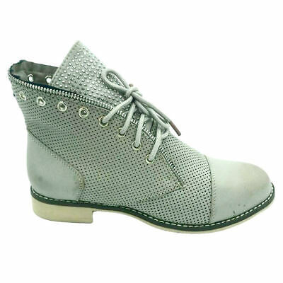 Womens Lace Ankle Boots Ladies Chelsea Chunky Heel Dealer Size Girls Flat Shoes