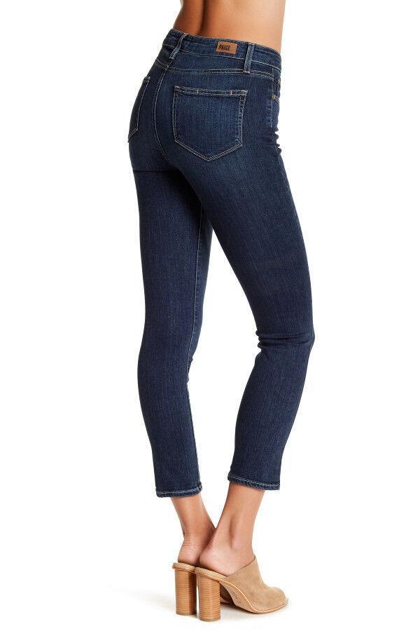 PAIGE PREMIUM DENIM Hoxton Crop High-Rise Ultra Skinny Jeans Size 29 in Oria