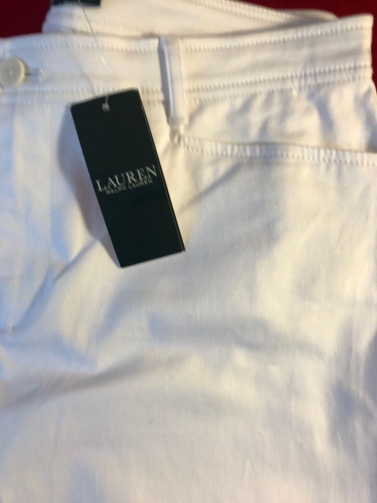 BNWT LAUREN RALPH LAUREN donna BIANCO ST Gamba Jeans Jeans Jeans UK16 W34  x L29  RRP 071d2a