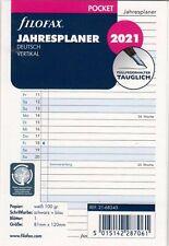 filofax Kalender Einlage 2019 Jahresplaner vertikal 95 x 171 mm  68445 Personal
