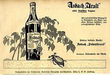 Asbach Uralt Cognac Privatbrand Maikäfer Annonce 1918