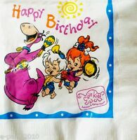 Flintstones Happy Birthday Lunch Napkins (16) Vintage Cave Kids Party Supplies