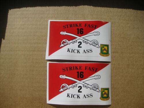 "Free Shipping New 2//16 CAV  /""Strike Fast Kick Ass/"" Sticker Set of 2"