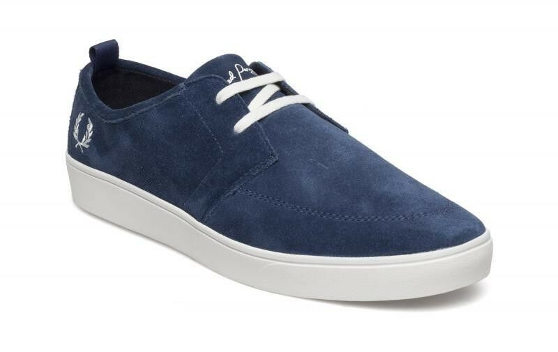 Frojo Perry Hombre Cuero Gamuza escudos Zapatillas Zapatos B1165-458 - Azul Imperial