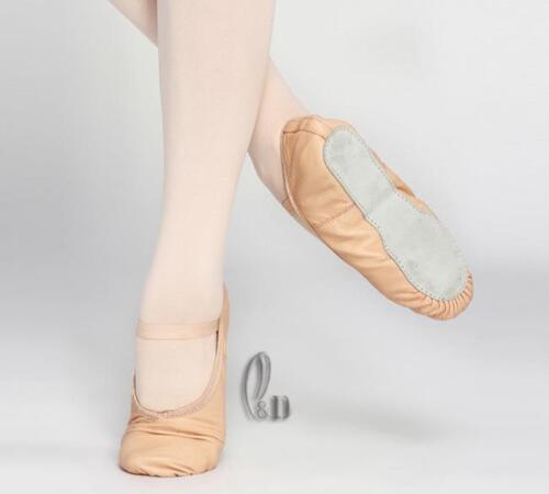 AU SELLER Soft Full Genuine Leather Quality Ballet Dance Shoes Child Adult da016