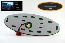 "Amber Orange LED Lo-Glow light Assessory for your 7"" wide Ford Emblem Badge"