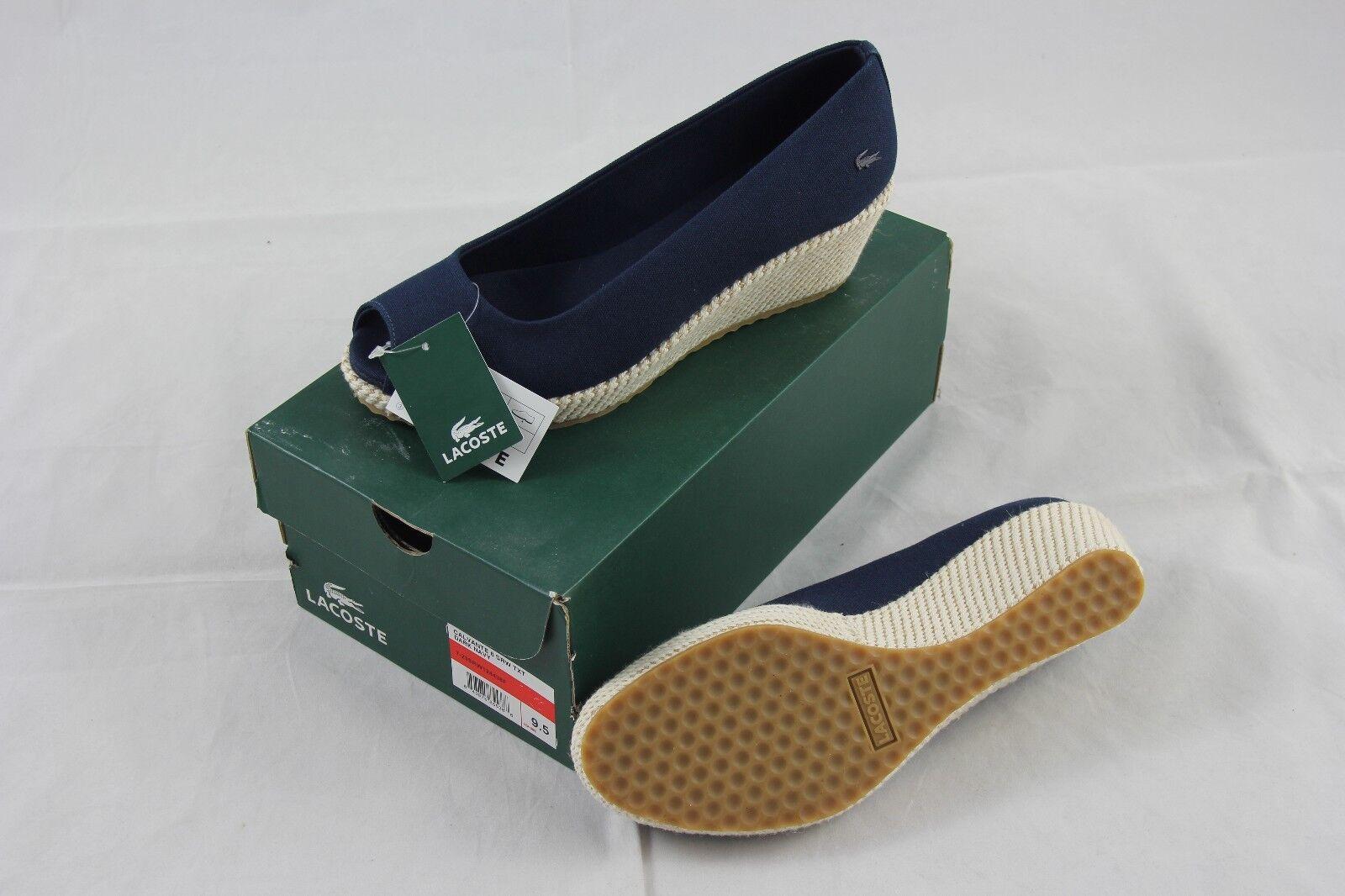 BNIB Lacoste  Calvante  Azul Marino Oscuro textiles Slip-on Slip-on Slip-on medio Tacones Talla 9.5  online al mejor precio