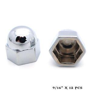 Image Is Loading 12 Chrome 9 16 034 Metal Acorn Nut