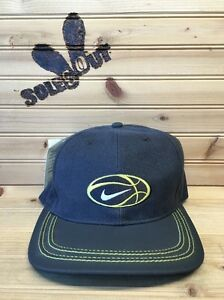 New-OG-Vintage-90s-Nike-Basketball-Logo-Adjustable-Hat-Grey-Volt-Just-Do-It