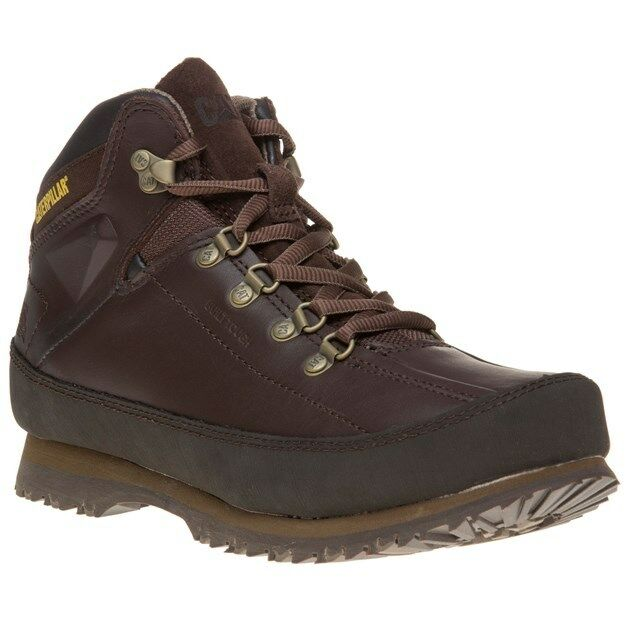 New Mens Caterpillar Brown Restore Leather Boots Lace Up